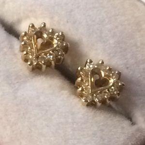 Kays 10k gold diamond earrings